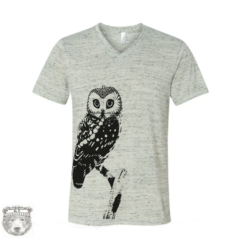 Unisex V-Neck OWL T Shirt xs s m l xl xxl (+ Colors)
