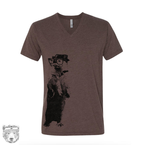 Unisex V-Neck River OTTER  xs s m l xl xxl (+ Colors Available)