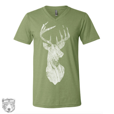 Unisex V-Neck DEER  vintage soft T Shirt  xs s m l xl xxl (+ Color Options)