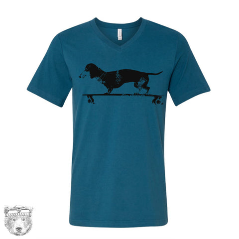Unisex V-Neck DACHSHUND  T Shirt xs s m l xl xxl  (+ Colors)