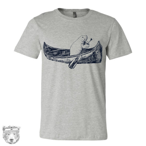 MANATEE in a Canoe Men's T-shirt - Zen Threads