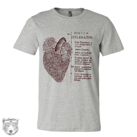Mens Vintage ANATOMICAL HEART T-Shirt s m l xl xxl (+ Color Options) - Zen Threads
