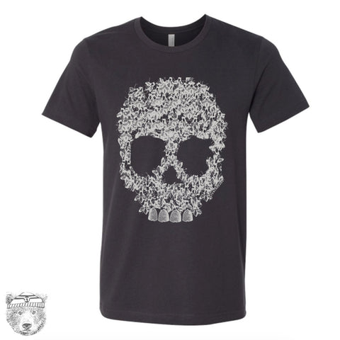 Mens BEE SKULL T Shirt  s m l xl xxl (+ Color Options) - Zen Threads