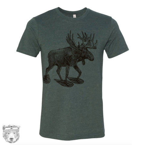 Men's MOOSE (in Snow Shoes) T-shirt  S M L XL XXL  (++ Color Options