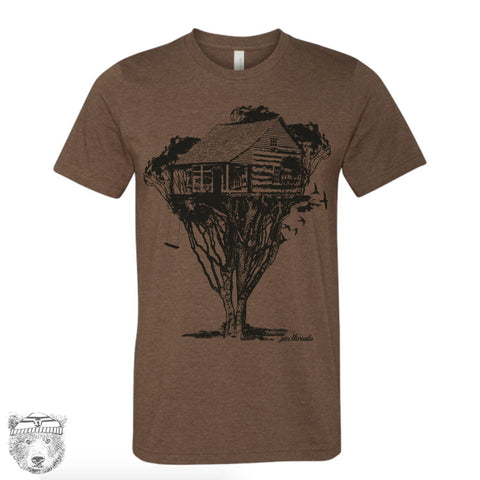 Mens TREEHOUSE Cabin t shirt s m l xl xxl (+ Color Options) - Zen Threads