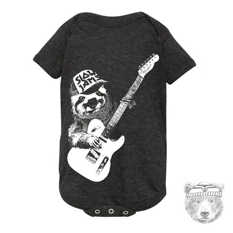 Baby One-Piece Tree SLOTH 3 (Slow Jams) Eco screen printed - Zen Threads