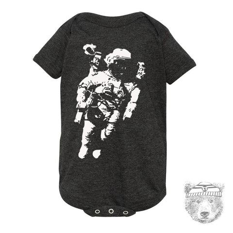Baby One-Piece SPACE science Astronaut Eco screen printed - Zen Threads