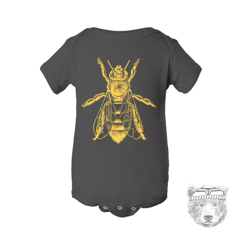 Baby One-Piece HONEY Bee Eco screen printed