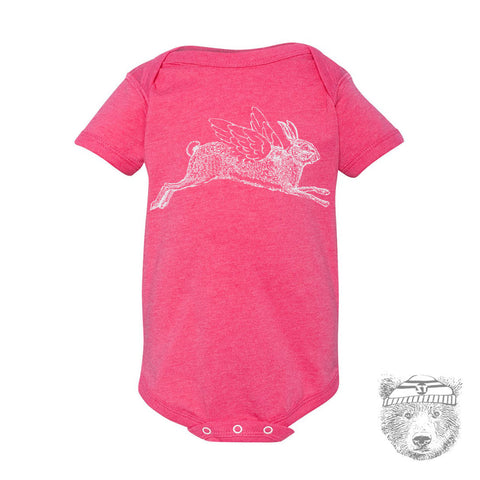 Baby One-Piece RABBIT Eco screen printed