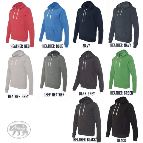 Unisex Pullover Hoody - OTTER (in a Fedora) - Flex Fleece Classic Sweatshirt - (+ Color Options) xs s m l xl xxl