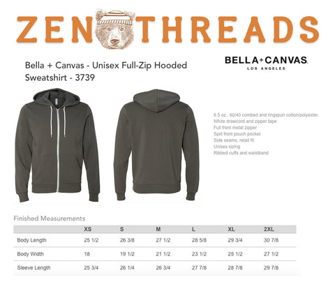 Unisex JELLYFISH Full Zip Fleece Hoody - all sizes XS S M L XL (4 Color options) Hand Screen Printed - Zen Threads