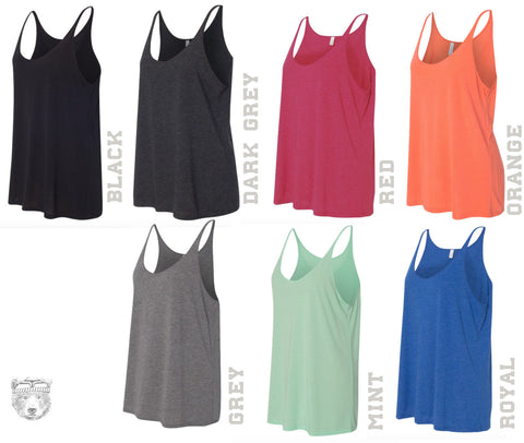 Women's SLOTH 2 (Live Slow) Slouchy Tank s m l xl + Colors