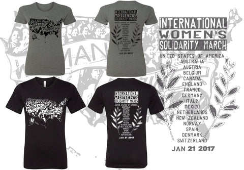 Women's SOLIDARITY March T Shirt - Bella Favorite Tee s m l xl xxl xxl (Proceeds to Charity)