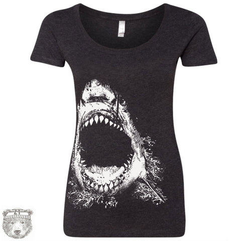 Women's SHARK Scoop Neck Tee