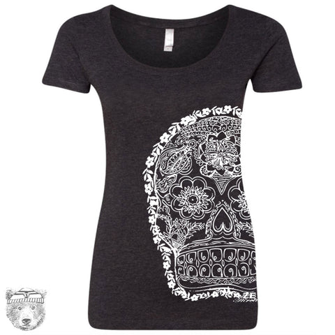 Women's Day of the DEAD 2 TriBlend Scoop Neck Tee - T-shirt S M L XL XXL (+ Colors)