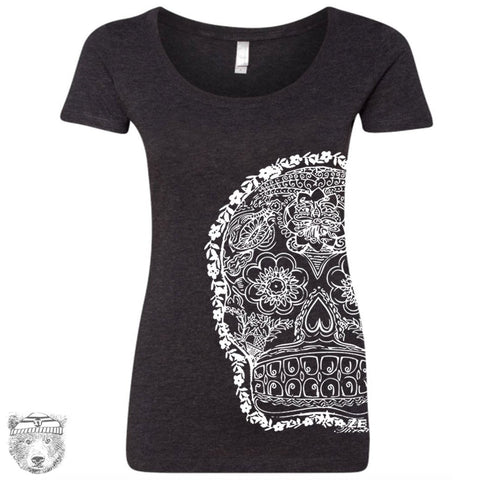 Women's Day of the DEAD 2 Scoop Neck Tee
