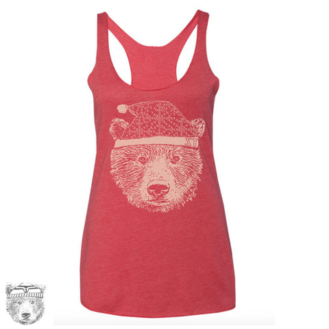 Womens HOLIDAY Bear - Tri-Blend Racerback Tank Top S M L XL XXL