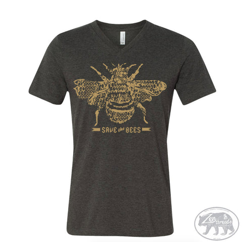 Unisex V-Neck SAVE the BEES  T Shirt  xs s m l xl xxl ( + Colors)
