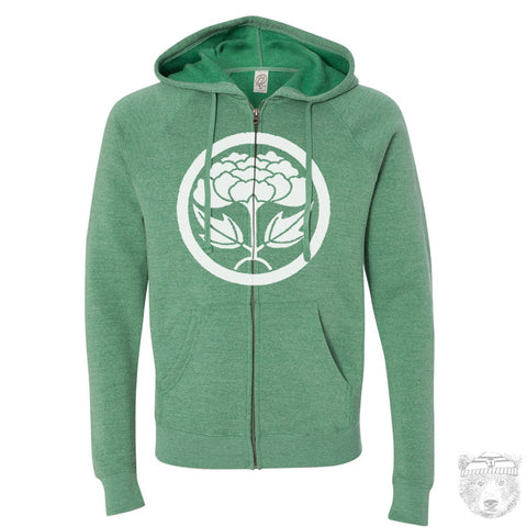 Unisex LOTUS Logo Tri-Blend or Fleece Zip Hoody Vintage Soft XS S M L XL - Zen Threads