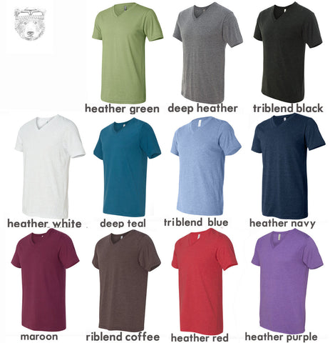 Unisex V-Neck WAVE  T Shirt  xs s m l xl xxl (+ Colors Available)
