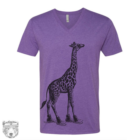 Unisex V-Neck GIRAFFE (in High Tops)  vintage soft t-shirt xs s m l xl xxl (+ Colors)
