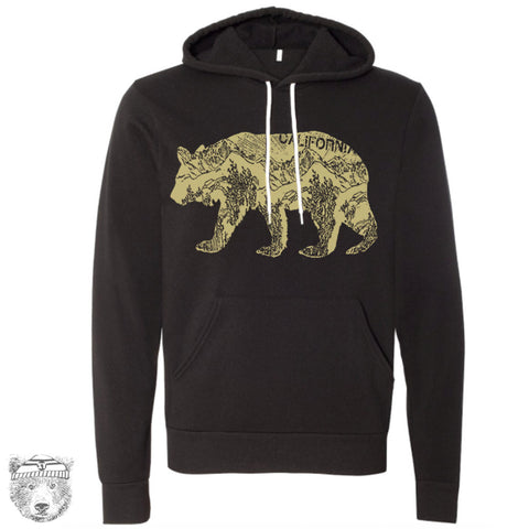 Unisex CALifornia BEAR Classic Fleece PULLOVER Hoody (+ Color Options) xs s m l xl xxl