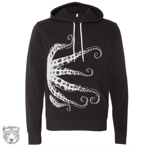 Unisex OCTOPUS Tentacles Fleece Pullover Hoody Sweatshirt  sizes xs s m l xl xxl (+ Color Options) - Zen Threads