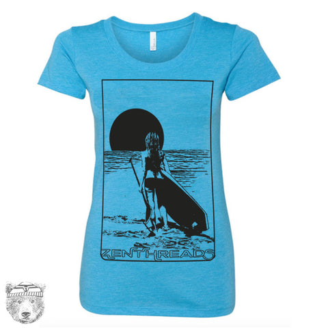Women's SUP PADDLE BOARD Lightweight Tri Blend t shirt [+Colors] s m l xl xxl
