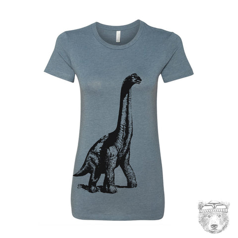 Women's DINOSAUR vintage soft -hand screen printed T Shirt s m l xl xxl (+ Colors Available)