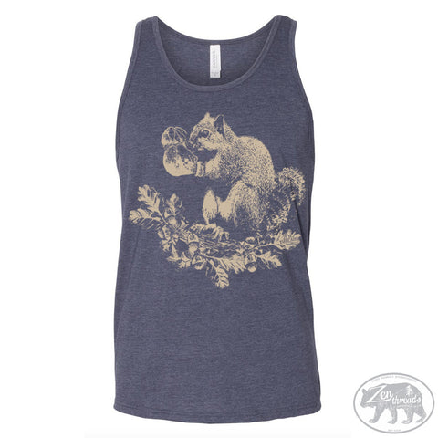 Unisex Boxing SQUIRREL Tank Top Tri Blend -hand screen printed xs s m l xl xxl (+ Colors)