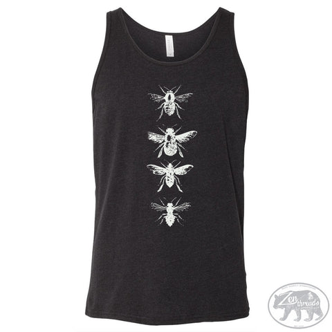 Unisex BEES Tri Blend Tank -hand screen printed xs s m l xl xxl (+ Color Options) - Zen Threads