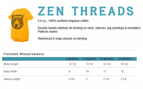 BEES Baby One-Piece Eco screen printed - Zen Threads