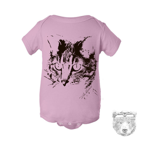 Baby One-Piece Urban CAT Eco screen printed - Zen Threads