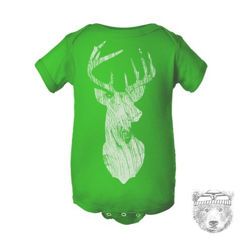 Baby One-Piece DEER Eco screen printed - Zen Threads