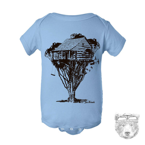 One-Piece TREEHOUSE Eco screen printed (+ Color Options) FREE Shipping - Zen Threads