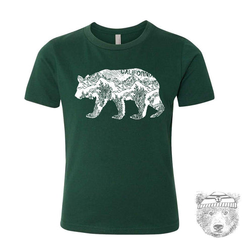 Kids California BEAR Premium vintage soft Tee T-Shirt Fine Jersey T-Shirt - Zen Threads