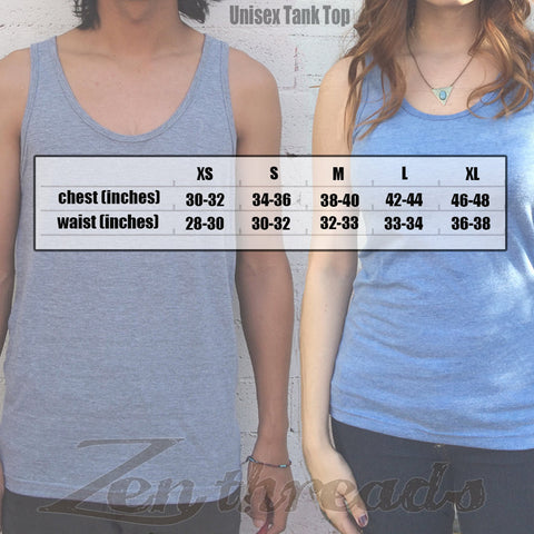Unisex OTTER ( in Fedora ) Tri Blend Tank Top -hand screen printed xs s m l xl xxl (+ Colors)