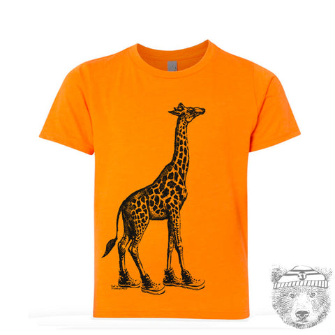 Kids GIRAFFE (in High Tops) Premium vintage soft Tee T-Shirt Fine Jersey T-Shirt - Zen Threads