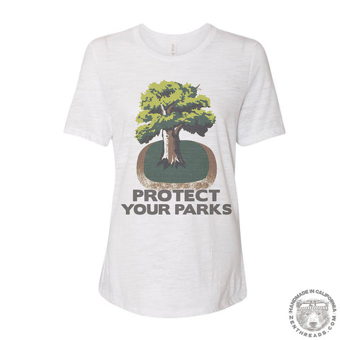 Women's PROTECT YOUR PARKS Relaxed Boyfriend Tee t shirt [+Colors] S M L XL XXL
