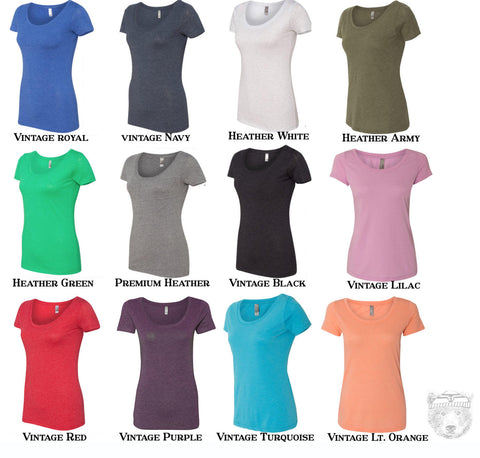 Womens HONEY Bee Tri blend Scoop Neck Tee - T Shirt XXL (+ Colors)