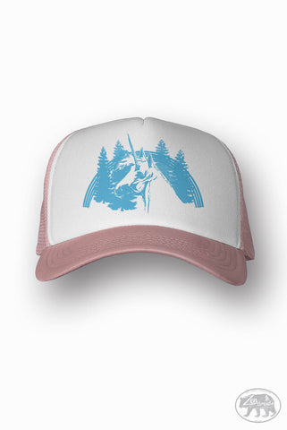 UNICORN Trucker Hat (+ Colors) - Zen Threads - Hand screen printed in California - FREE SHIPPING - Zen Threads