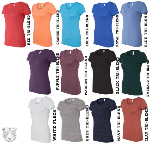 Womens A Little Bit LOUDER Now -  Lightweight Tri Blend t shirt [+Colors] S M L XL XXL custom