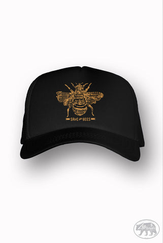 SAVE THE BEES Trucker Hat (+ Colors) - Zen Threads - Hand screen printed in California - Ships Free - zen threads - Zen Threads