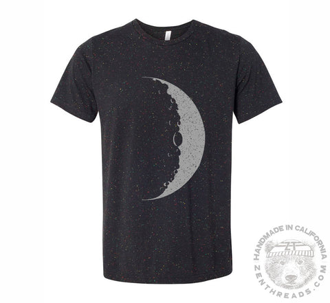 Mens MOON T Shirt s m l xl xxl (+ Color Options) hand screen printed custom - Zen Threads