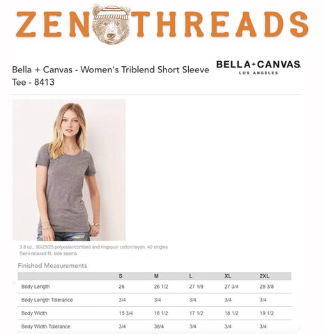 Womens BE A NICE HUMAN Lightweight Tri Blend t shirt [+Colors] s m l xl xxl Hand Screen Printed Zen Threads custom