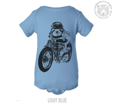 Baby One Piece SLOTH MOTO motorcycle bike - Zen Threads