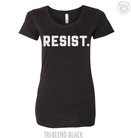 Womens RESIST. Lightweight Tri Blend t shirt [+Colors] XXL custom