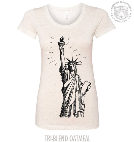 Womens LIBERTY Lightweight Tri Blend t shirt [+Colors]  Hand Screen Printed Zen Threads
