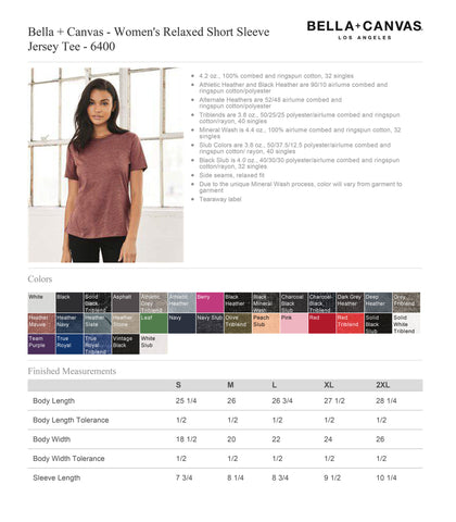 Smart OTTER Women's Relaxed Boyfriend Fit Tee T-shirt Screen Printed Zen Threads + Bella Canvas 6400