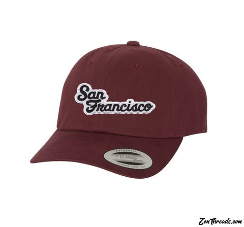 SAN FRANCISCO Embroidered California Patch Peached Cotton Twill Dad Cap - 6245PTHat